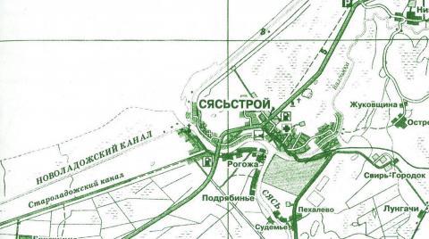 Карта окрестностей города Сясьстрой
